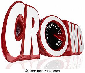 Crowd Word Speedometer Fund Raise Source Assistance Help