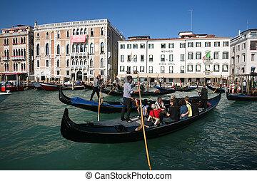 crowded gondolas