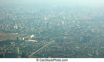 Crowded Metropolitan City from Aerial Perspective. 1080p DCI...