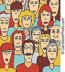 Crowded people / Colorful crowd