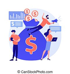 Crowdfunding abstract concept vector illustration. ...