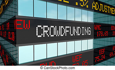 Crowdfunding Business Capital Raising Funds Stock Market ...