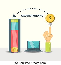 crowdfunding business financial company support vector ...