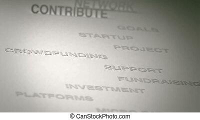 crowdfunding, concept, animatie