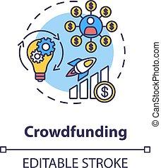 Crowdfunding concept icon