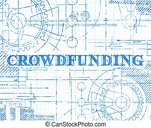 Crowdfunding Graph Paper Technical Drawing