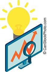 Crowdfunding icon, isometric style
