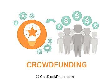 crowdfunding, idea negocio, crowdsourcing, patrocinador,...