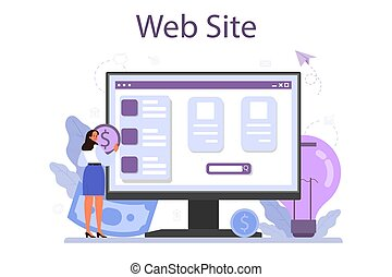 Crowdfunding online service or platform. Financial support of new business project. Website. Isolated vector illustration