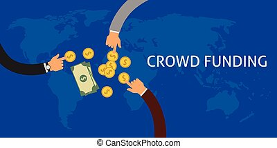 Crowdfunding or collecting money from people to support a ...