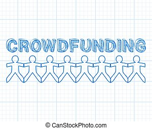 Crowdfunding People Graph Paper - Crowdfunding hand drawn ...