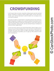 Crowdfunding Strategy Text Vector Illustration