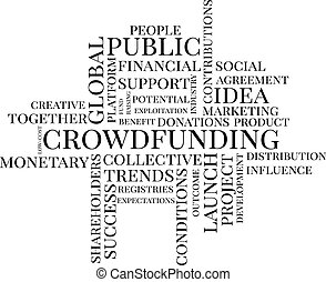 Crowdfunding typographic cloud