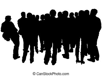 Crowds of people