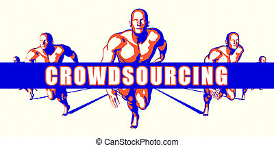 Crowdsourcing as a Competition Concept Illustration Art