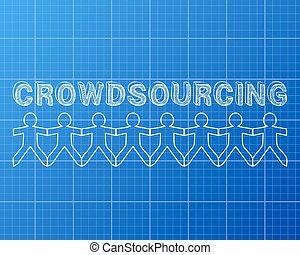 crowdsourcing, cianotipo, gente