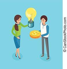 crowdsourcing, crowdfunding, inversionistas, intercambio