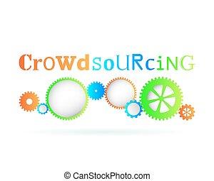 Crowdsourcing Gears - Crowdsourcing word above modern gear ...