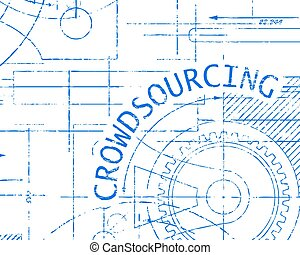 crowdsourcing, gráfico, máquina, papel