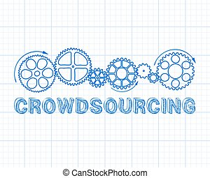Crowdsourcing Graph Paper - Crowdsourcing text with gear...