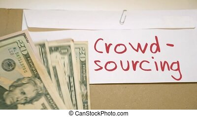 Crowdsourcing income concept - Crowdsourcing cash envelope