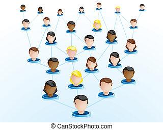 crowdsourcing, nätverk, ikonen