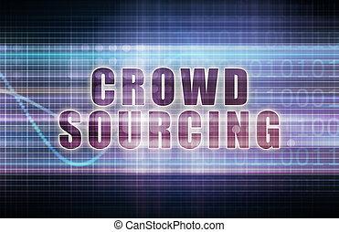 Crowdsourcing on a Tech Business Chart Art