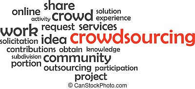 crowdsourcing, palabra, -, nube