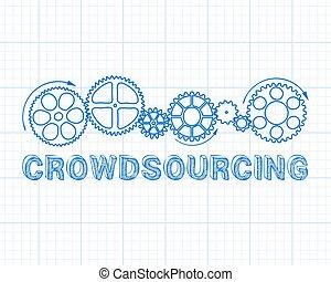crowdsourcing, papel de gráfico