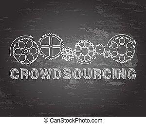 crowdsourcing, pizarra