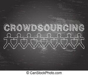 crowdsourcing, pizarra, gente