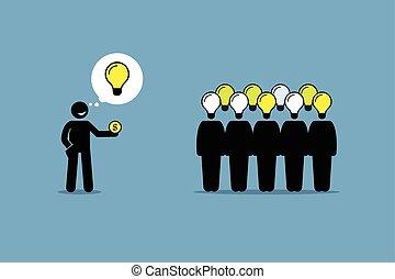 crowdsourcing, sourcing., o, multitud