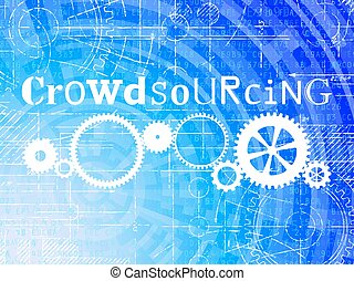 crowdsourcing, technologie de pointe, fond