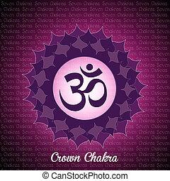 crown chakra - illustration of crown chakra