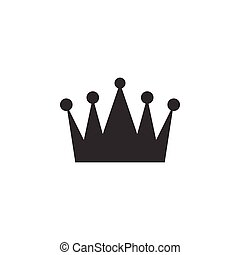 Crown clip art design vector isolated