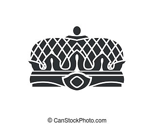 Crown Closeup of Silhouette Vector Illustration