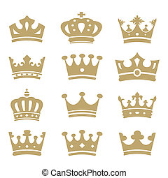 Crown collection - vector silhouette - Crown silhouette ...