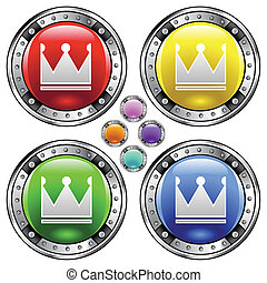 Crown colorful button