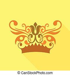 Crown decorative design elements icon