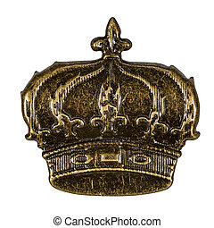 Crown, element for scrapbooking, isolated on a white background, with clipping path