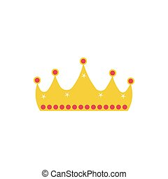 crown fairytale object isolated icon vector illustration ...
