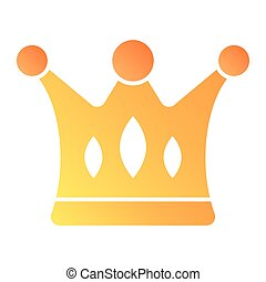 Crown flat icon. Royalty color icons in trendy flat style. Majestic gradient style design, designed for web and app. Eps 10.