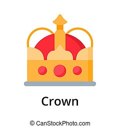 Crown flat vector illustration. Single object. Icon for ...