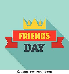 Crown friends day logo, flat style - Crown friends day logo....