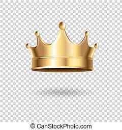 Crown Gradient Mesh, Vector Illustration