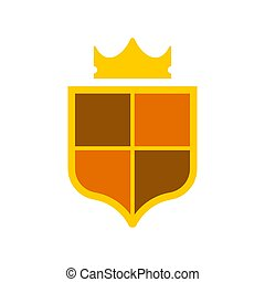 Crown Heraldic Shield. Template heraldry design element. Coat of arms of royal family
