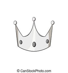 Crown icon, black monochrome style