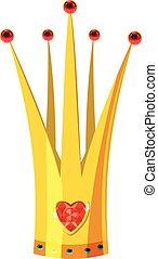Crown icon, cartoon style