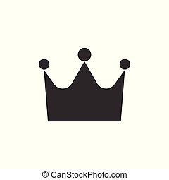 Crown icon. Grey on white background. Vector illustration, flat design.