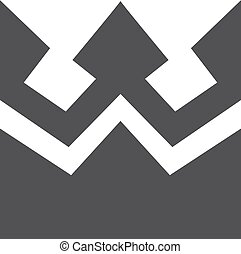 Crown icon in black on a white background. Vector illustration